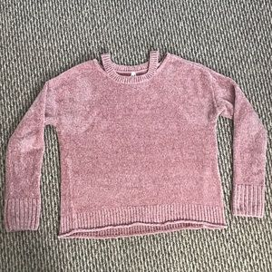 Mauve chenille sweater